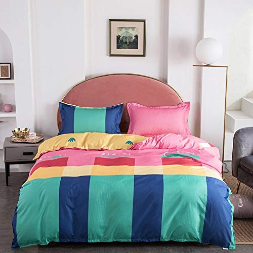 AINOT Four-Piece Bedding Set in Student Dormitory Summer Full Cotton Quilt Cover Three-Piece Set