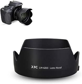 50mm Reversible Lens Hood Shade Fit for Canon EF 50mm f/1.8 STM Lens Replaces Canon ES-68 Hood Tulip Flower Design -Black
