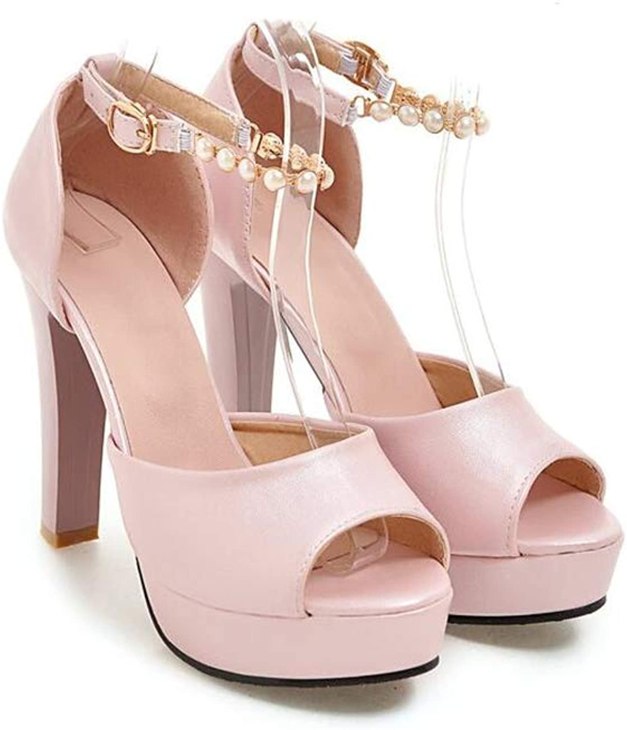 Super explosion Women's shoes Simple Platform Ankle Strap Chunky High Heeled Sandals