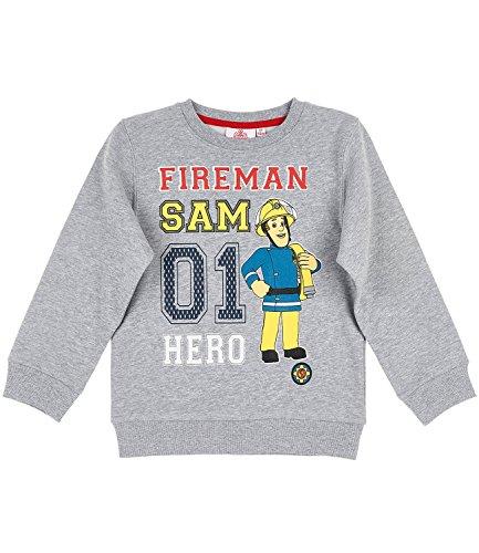 Feuerwehrmann Sam Jungen Sweatshirt - grau - 116