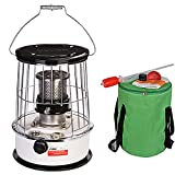 SEYE Calentador de Estufa de Queroseno para Camping, Calentador de Aceite portátil de 6 l para Interior y Exterior, Patio, terraza, hogar, con Bolsa