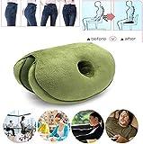 GJJSZ Dual Comfort Cushion Lift Hips Up Seat Cushion,Beautiful Butt Latex Seat Cushion Orthopedic Memory Foam...