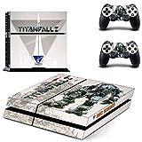 FENGLING Juego Titanfall 2 Ps4 Stickers Play Station 4 Skin Sticker Calcomanías de Juegos para Playstation 4 Ps4 Consola y Controlador Skins Vinyl