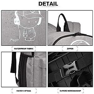 Kono Anime Cartoon Luminous música Boy Backpack Escuela Estudiante Mochila de Moda, Mochila Escolar Unisex Bookbag…