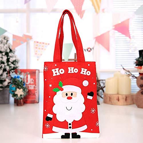 Kinder-Tragetaschen Weihnachten Süsser Sack Weihnachtsgeschenkbeutel Universelle Geschenkhalter Leichte WeihnachtsaccessoiresAlter Mann - Rot & Weiß