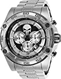 Invicta Men's Marvel Quartz Watch with Stainless-Steel Strap, Silver, 26 (Model: 26863)