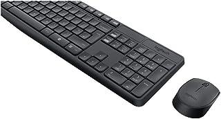 Logitech MK235 Combo Teclado y Ratón para Windows, 2,4 GHz con Receptor USB Unifying, Ratón Inalámbrico, 15 Teclas con Función, Batería de 3 Años, PC/Portátil, Disposición QWERTY Español, color Gris