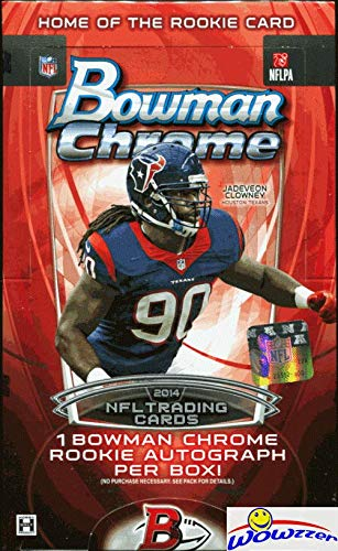 2014 Bowman Chrome Football HUGE Factory Sealed HOBBY Box with AUTOGRAPH! Look for RC & Autos of Jimmy Garoppolo, Derek Carr, Odell Beckham Jr, Teddy Bridgewater & Many More! WOWZZER!
