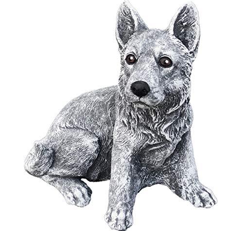 Steinfigur Schäferhund frost- und wetterfest bis -30°C massiver Steinguss