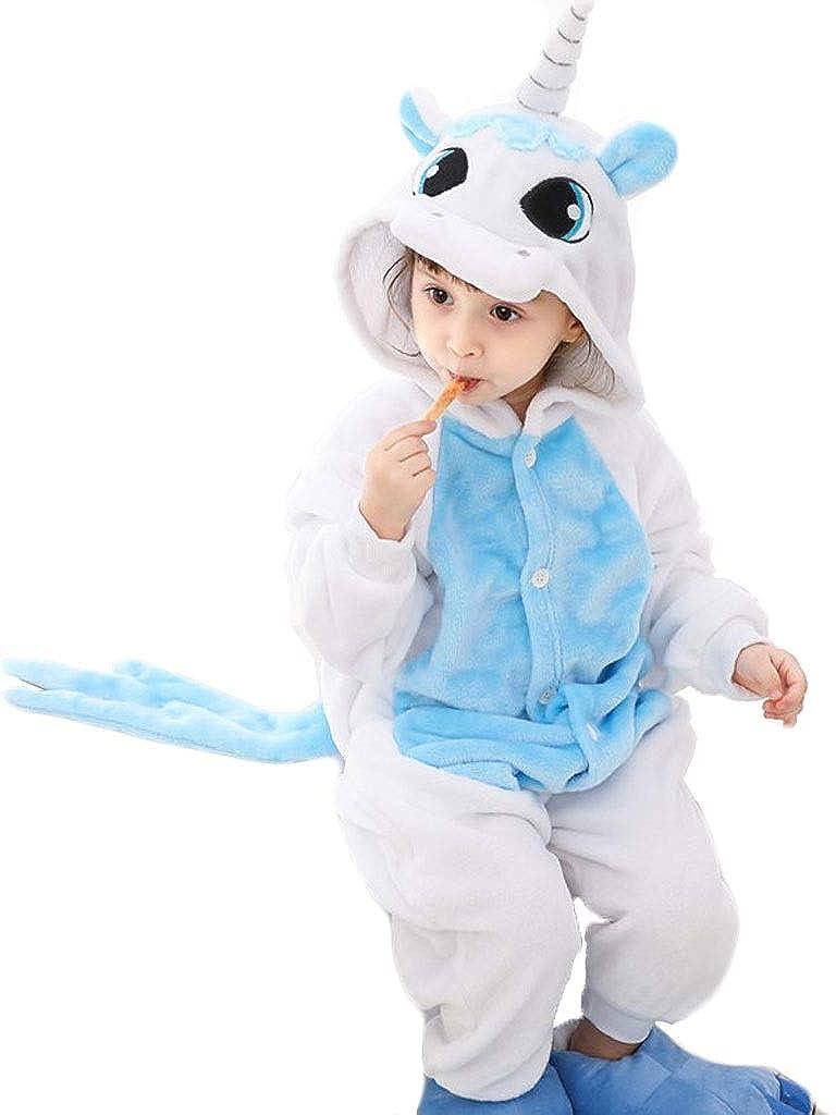 Pijamas de Animales para niños Niños Unicornio Azul de ...