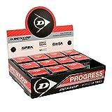 Dunlop Squashball Progress 12 Bälle roter Punkt