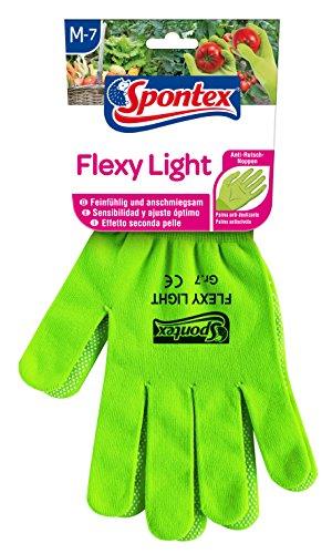 Spontex Flexy Light, flexible Damenhandschuhe für Garten- und Hobbyarbeiten, mit Anti-Rutsch-Noppen, aus Textilstrick, Größe M, 1 Paar