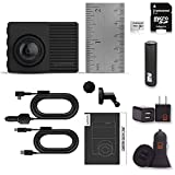 Garmin Dash Cam 66W Bundle with 180-Degree Lens, 1440P HD, Auto Incident Detection and Recording, Transcend 32gb Micro SD Card + PowerBank + USB Car Charger + USB Wall Charger (10 Items)