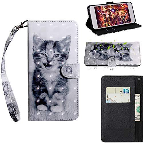 Kihying en Cuir Coque pour Motorola Moto E5 / Moto G6 Play Coque Housse Couverture à Rabat Portefeuille Support Et Fente pour Carte (Modèle - BX10)