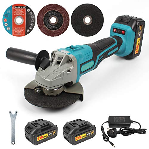 21V Cordless Angle Grinder, 125mm Brushless Angle Grinder...