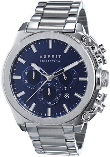 Esprit Herren-Armbanduhr Tityos Chrono Chronograph Quarz Edelstahl EL102181006