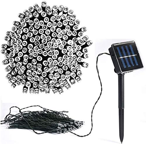 Solar String Lights, Vlio 200 LED Solar Powered Fairy String Lights Outdoor Waterproof 8 Modes Decorative Lights for Tree, Patio, Garden, Yard, Home, Wedding, Party (Cool White)