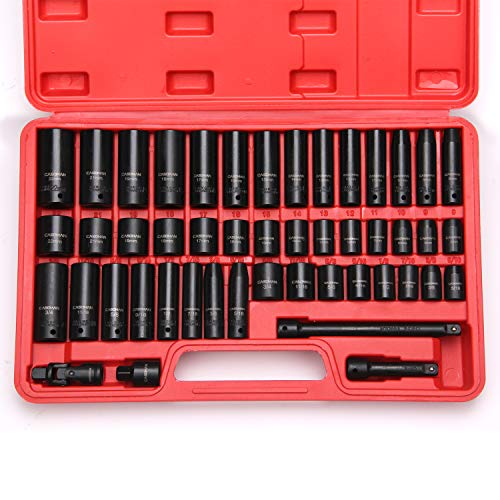 and 1//2 Drive 3//8 3-Piece 1//4 Adapt Your Power Drill to High Torque Impact Wrench LEXIVON Impact Grade Socket Adapter Set 3 Extension Bit with Holder LX-101