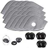Activated Carbon Filters Replacements Parts Set of 15 Fit for Most Cycling Filters with 6 Exhaust Valves Replacement Dust (15pcs)