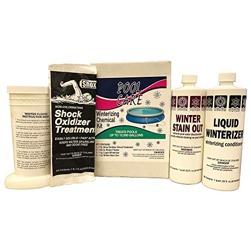 Qualco Pool Care Winterizing Chemical Kit for Pools Up to 10,000 Gallons