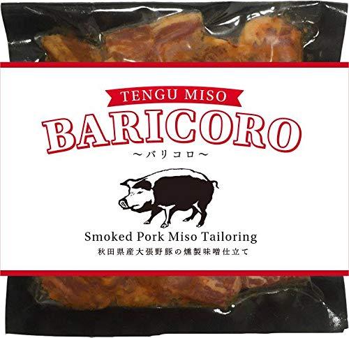 BARICORO バリコロ 80g×1P 河辺農産 無添加 秋田県産大張野豚の燻製味噌仕立て