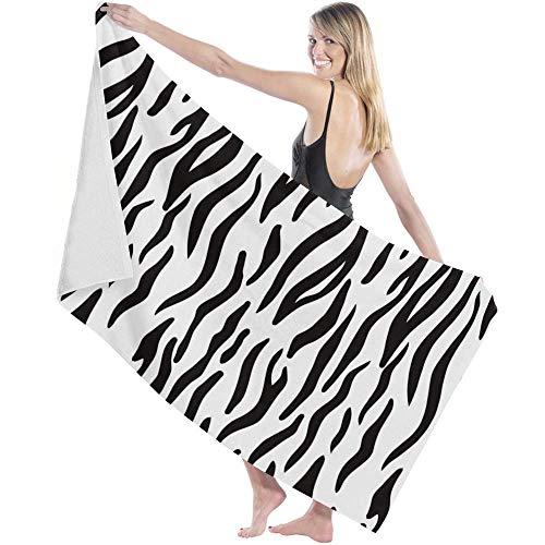Toalla de Microfibra Secado rápido, Ligera, Absorbente, Suave y grante Yoga, Fitness, Playa, Gimnasio Animal Cebra 130X80cm