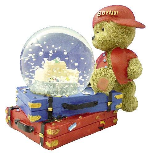 Schneekugel Berlin Berliner Bär mit Koffer