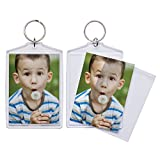 Made out of high quality, durable acrylic Can hold two photos or kids drawings, one on each side Perfect for professional photographers to use at events or teachers to use as craft projects Just pop in your photo or design and snap in the clear cover...