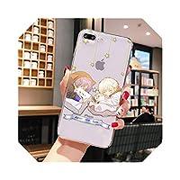 アニメマフマフ塗装電話ケースFor iPhone8 7 66SプラスXxrXs最大55s11プロ最大カバーコンク携帯電話-A14-For iphone 11