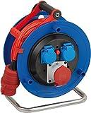 Brennenstuhl Garant CEE 1 IP44 Kabeltrommel (25m Kabel in signalrot, aus Spezialkunststoff, Einsatz im Außenbereich, Made in Germany)