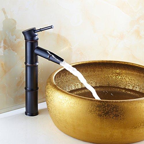 Auralum® Classic Design Miscelatore Rubinetto Bronzo Lavabo Bagno Cucina Forma Di Bambù