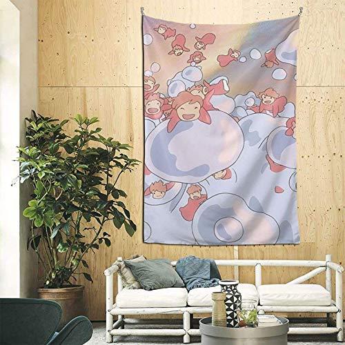 wenhe P-O-N-Y-O - Tapices Art Deco, utilizados para dormitorio, habitación compartida universitaria, decoración del hogar 90 pulgadas x 60 pulgadas (versión vertical)