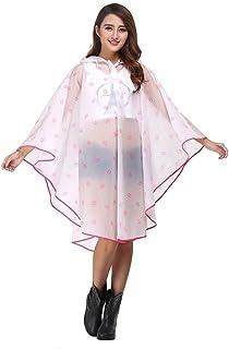 Raincoat Poncho Mens Women,Waterproof Outdoor Rain Jacket,Transparent Rainwear, Female Tide Brand Raincoat, Adult Walking Student, Full Body Travel Poncho (Color : Clear)