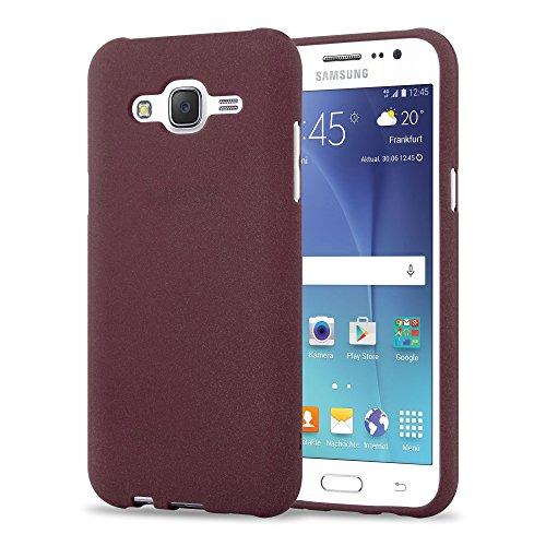 Preisvergleich Produktbild Cadorabo Hülle für Samsung Galaxy J5 2015 (5) - Hülle in Frost BORDAUX LILA Handyhülle aus TPU Silikon im matten Frosted Design - Silikonhülle Schutzhülle Ultra Slim Soft Back Cover Case Bumper