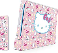 Skinit Hello Kitty Pink, Hearts & Rainbows Skin for Wii (Includes 1 Controller) - Officially Licensed Sanrio Gaming Decal - Ultra Thin, Lightweight Vinyl Decal Protection