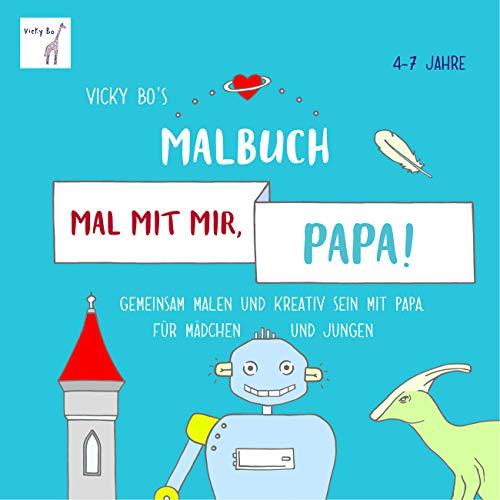 Malbuch für Vater Papa und Kind