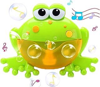 WenToyce Frog Bubble Maker for Bath, Foam Blower Bubbling Making Machine, Nursery Rhyme Musical Bathtub Toy for Baby Kids ...