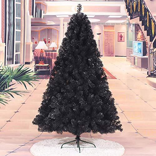 ZYQHJKLHK Árbol de Navidad Artificial de decoración Negra, árbol de Navidad extraíble...