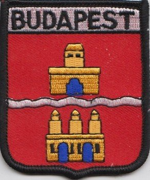 Budapest Ungarn Flagge bestickt Patch Badge
