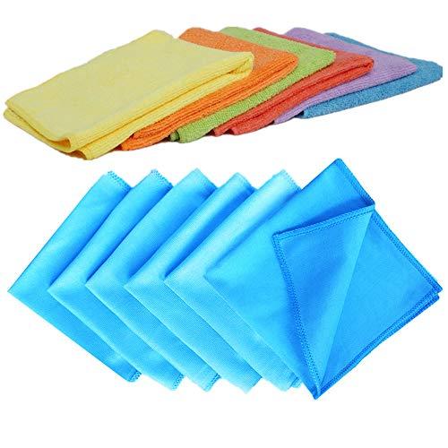 10 Microfaser Auto Poliertücher Set 40 x 40 cm Tücher 380g//m² Blau Mikrofaser