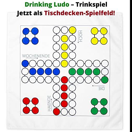 Your Day Mate Drinking Ludo Trinkspiel, 70 x 70 cm, für Shot-Gläser, Drinking Ludo Spielfeld, Trinkspiel für Party, Festival, Geburtstag Partyspiel, lustiges Saufspiel