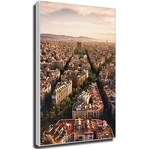 Lesign Eixample in Barcelona - Póster de viaje vintage de 40 x 60 cm