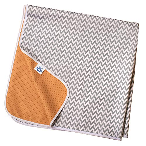 Rutschfeste Spritzmatte von TotsAhoy!® Große Unterlage Bodenschutz für Hochstuhl (Graues Chevron) Splat/Splash Mat
