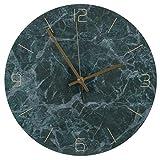 Tissting Reloj De Pared con Textura De MáRmol Reloj Silencioso AcríLica Reloj Minimalista Moderno De Lujo Reloj Redondo Sala De Estar Dormitorio DecoracióN De Oficina