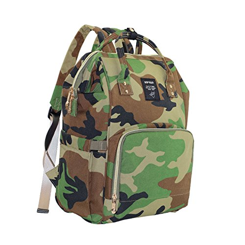 CutePaw Multi-Function Baby Diaper Bag Backpack Waterproof Camouflage/Solid Nappy Bag Large Capacity Travel Backpack