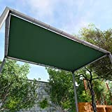 Windscreen4less Waterproof Pergola Cover Awning Tarp Canopy Rectangle Shade Sail Cloth for Gazebo Carport Porch Patio Hot Tub Yard 480GSM Heavy Duty 8' x 16' Green