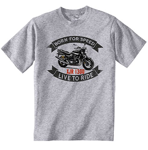 TEESANDENGINES Yamaha XJR 1300 Camiseta Gris para Hombre de Algodon Size Large