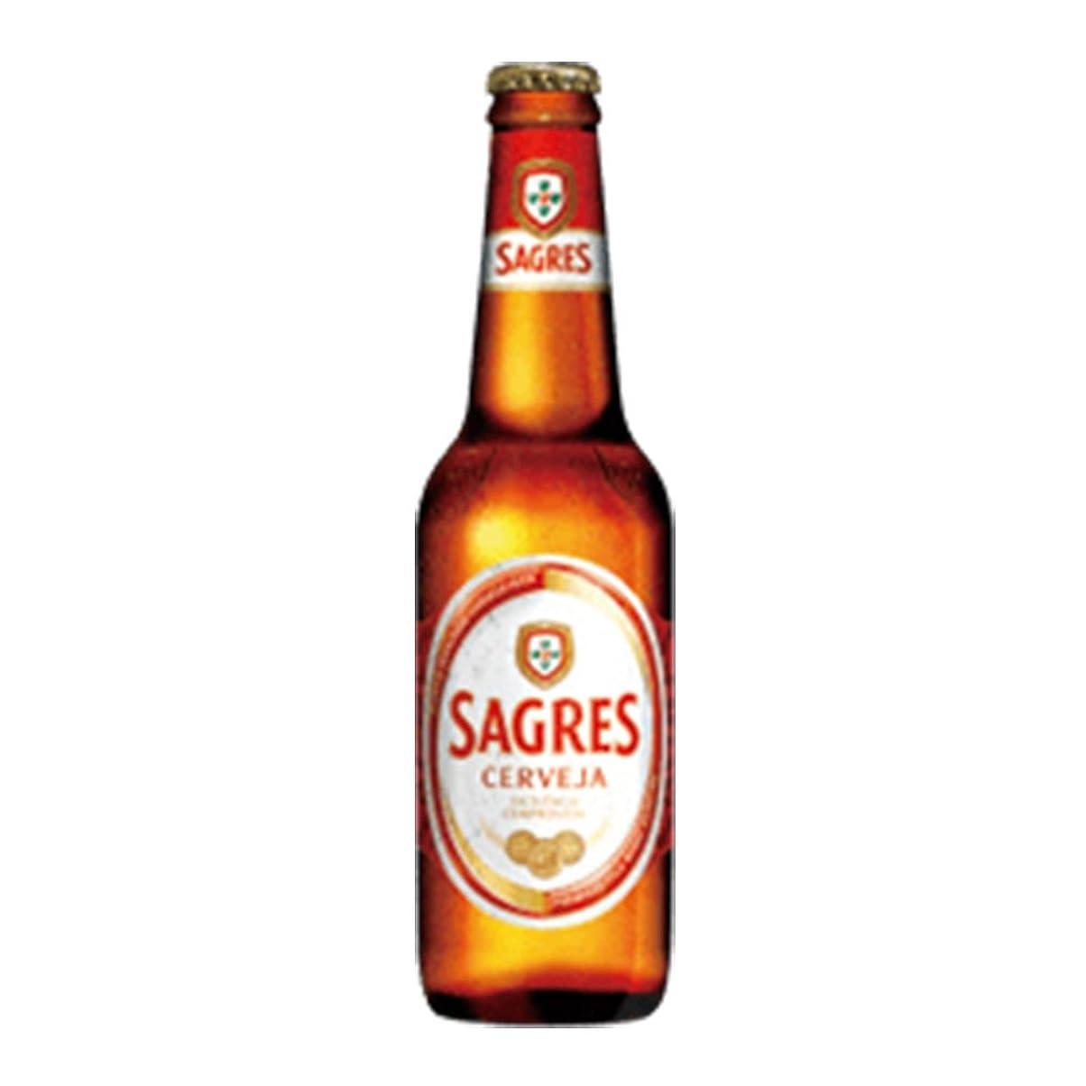 セブンマイクロフォンわずかにサグレス 5度 330ml 24本セット(1ケース) 瓶 ポルトガル ビール [並行輸入品]