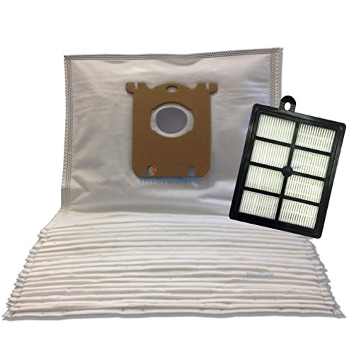 Vorteils-Set für AEG SilentPerformer CLASSIC ASP7110, 20 Staubsaugerbeutel + 1 HEPA Filter - Alternativ zu AEG AUSK9, S-bag 201M, AFS1W