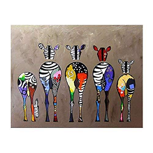 Dorling Kindersley Multimedia - DK Quadri Moderni,Dipinto su Tela, Acquerello Zebra Animale Stampe Pittura Decorativa, Nucleo di Soggiorno Camera da Letto Decorativo Disegno,13x18cm